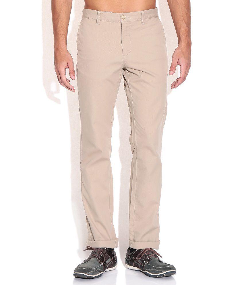 Indian Terrain Regular Khaki Trousers
