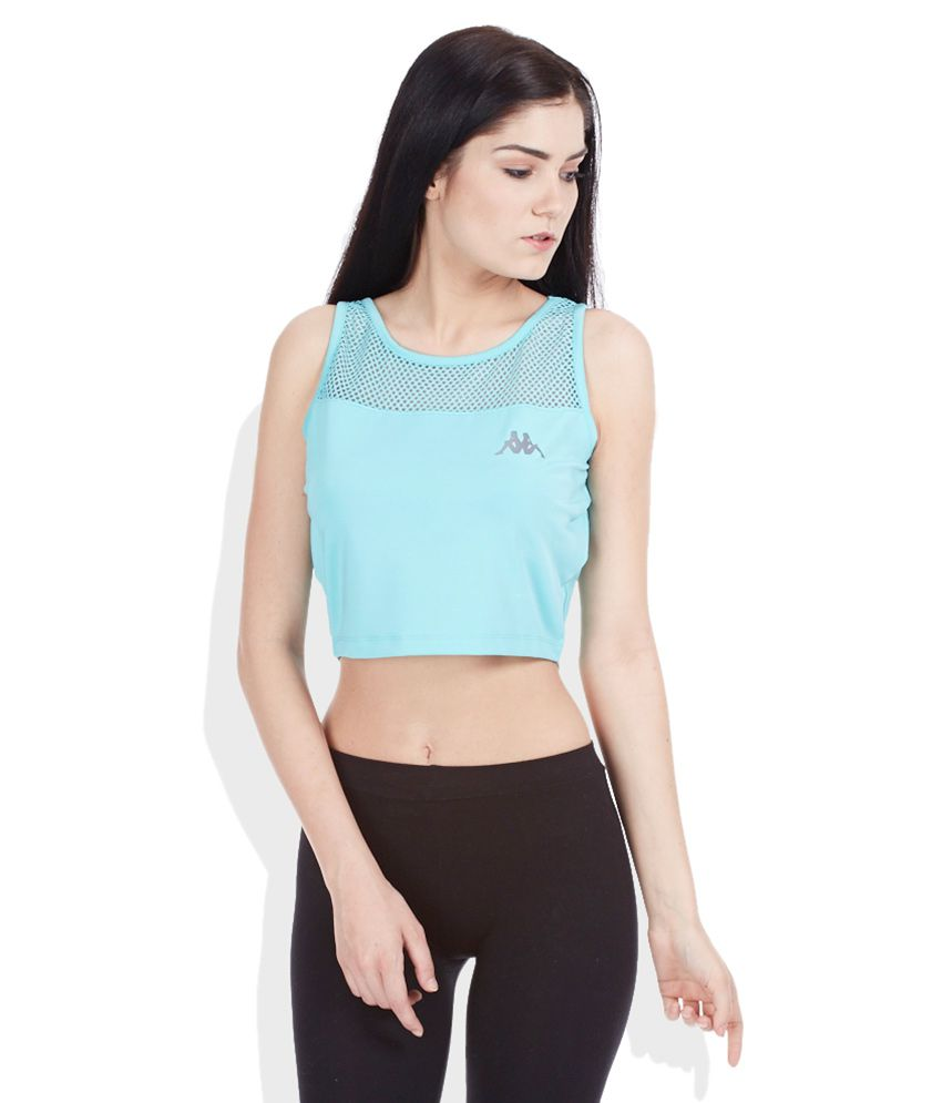 Kappa Blue Polyester Crop Top