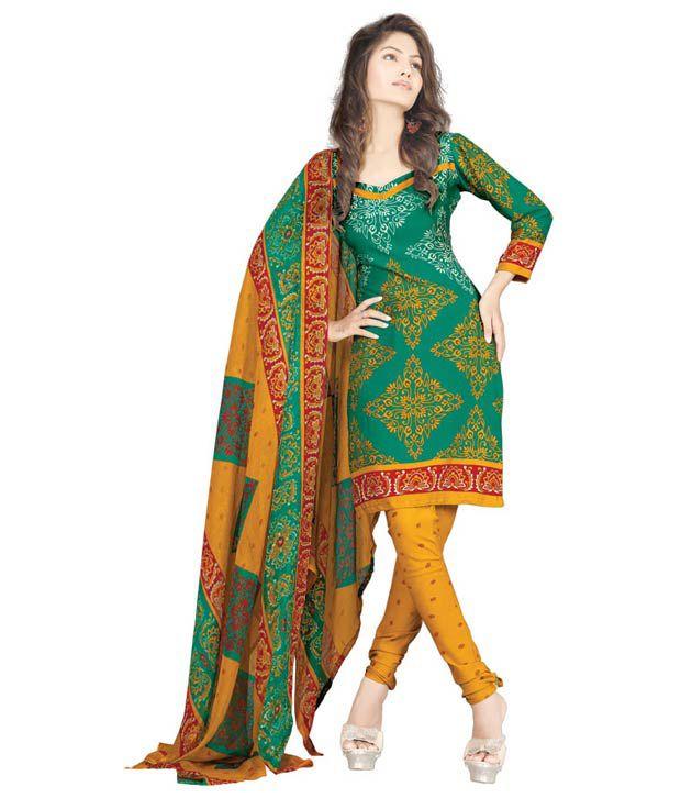 e8e7cbf6a1 Renuka Indian Dress Material Unstitched Salwar Suit - Multi Color Printed  Crepe Material - Buy Renuka Indian Dress Material Unstitched Salwar Suit -  Multi ...