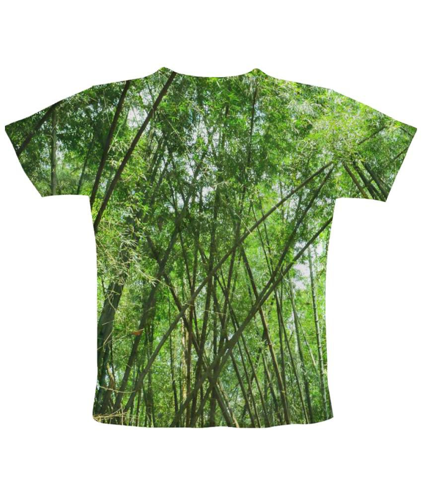 Freecultr Express Bamboo Graphic Green Half Sleeve T Shirt
