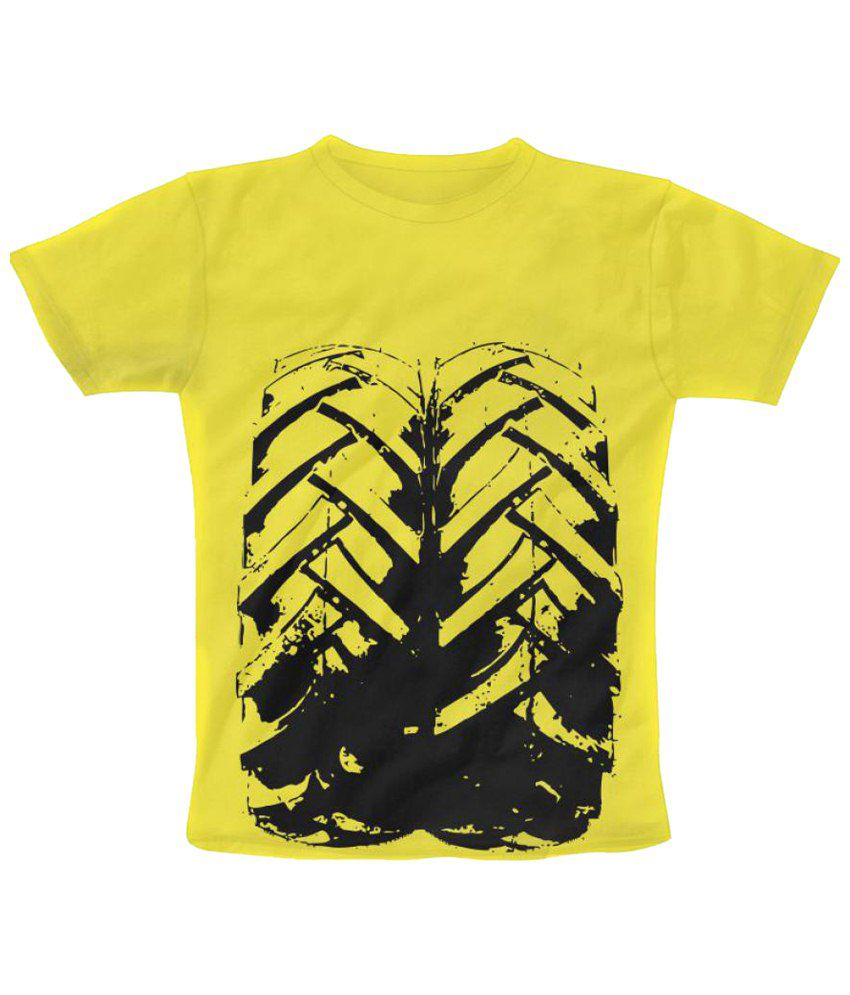 Freecultr express f print graphic half sleeve yellow t for T shirt print express