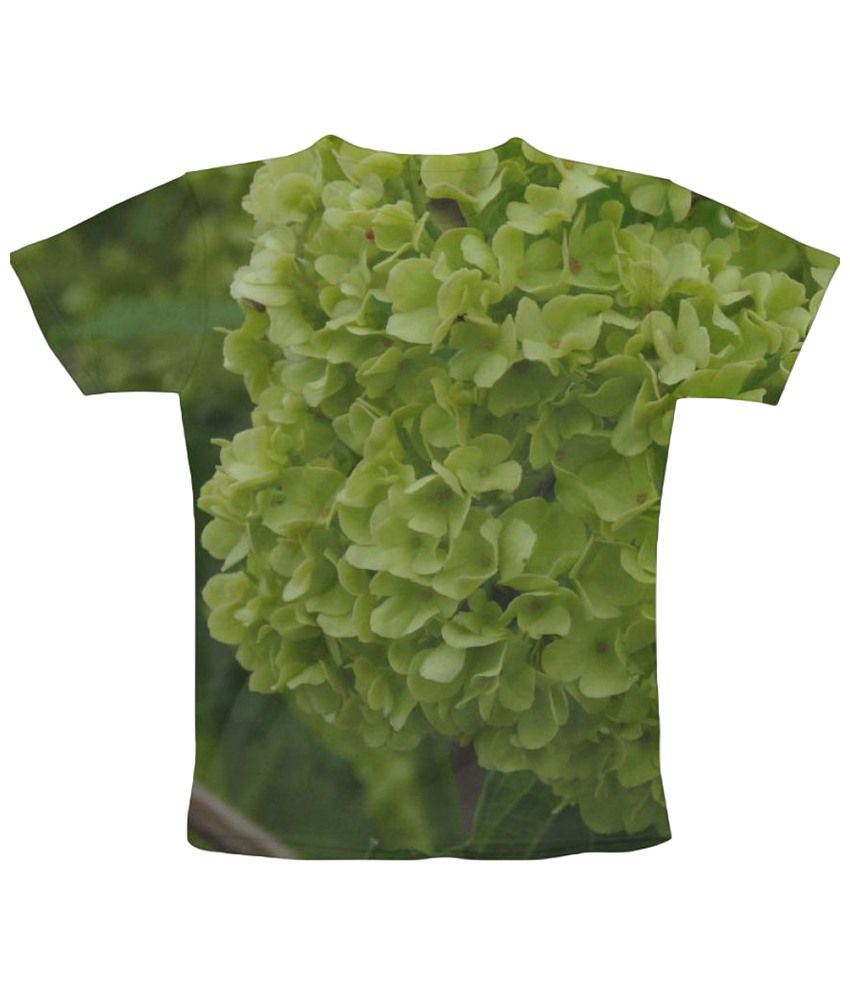 Freecultr Express Green Leaves Graphic Print Half Sleeve T Shirt