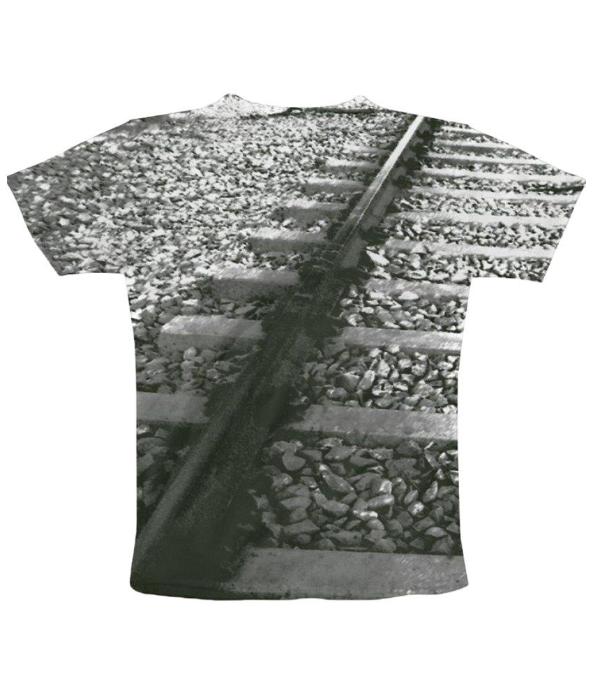 Freecultr Express Parallel Graphic Gray Half Sleeve T Shirt