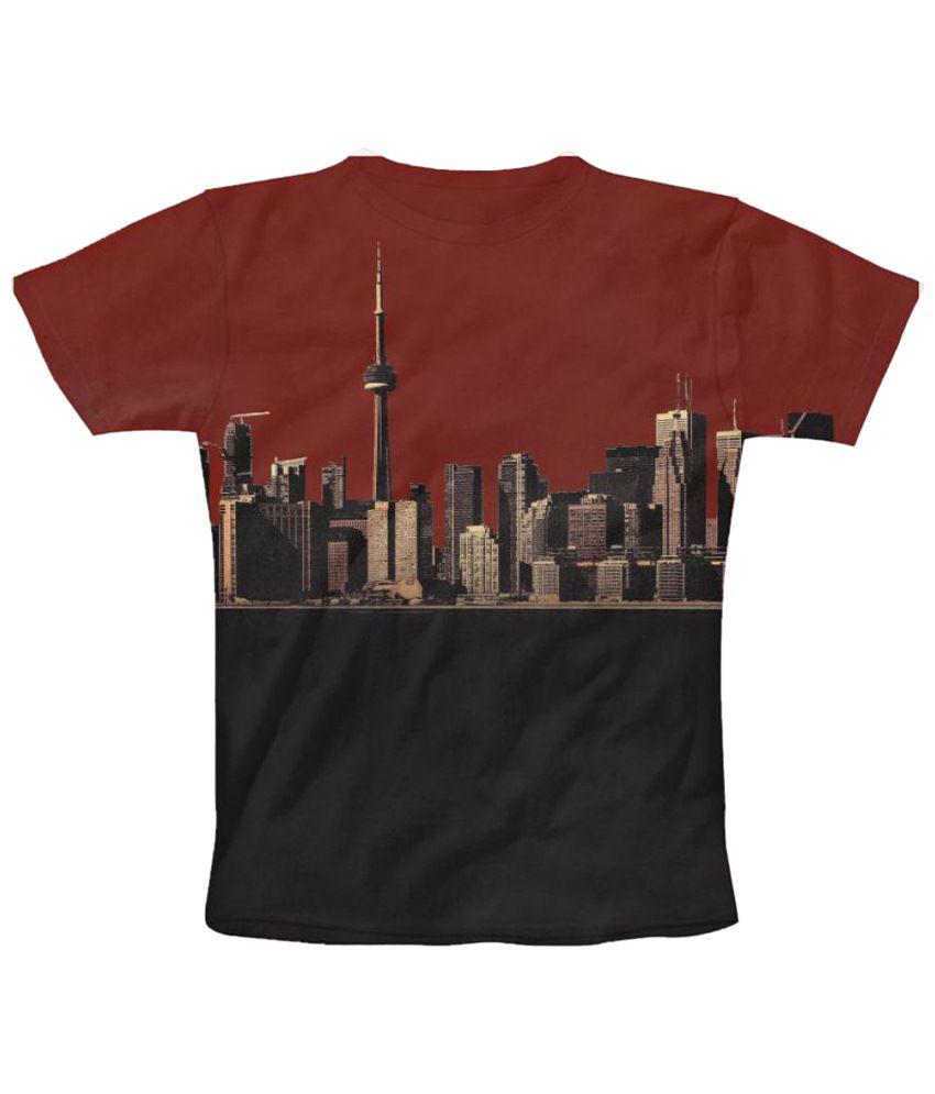 Freecultr Express Urban Graphic Multicolour Half Sleeve T Shirt