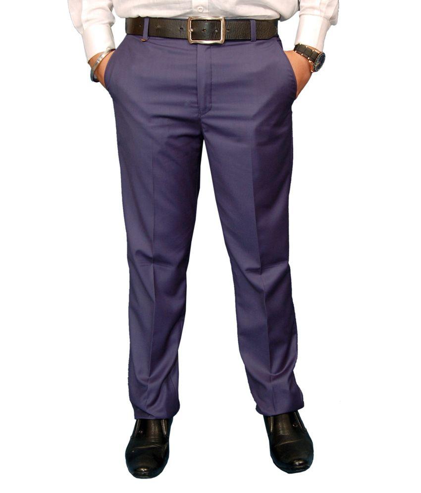 Fashion N Style Blue Formal Trouser For Men
