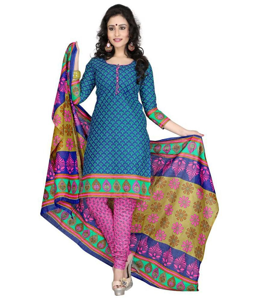 Kuki Exclusive Designer fancy Printed Cotton Dress material
