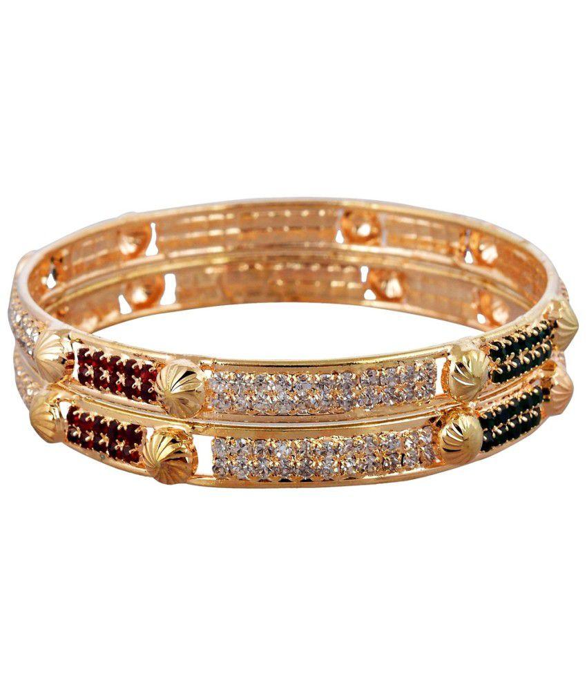 Lucky Jewelry Golden Brass Bangle