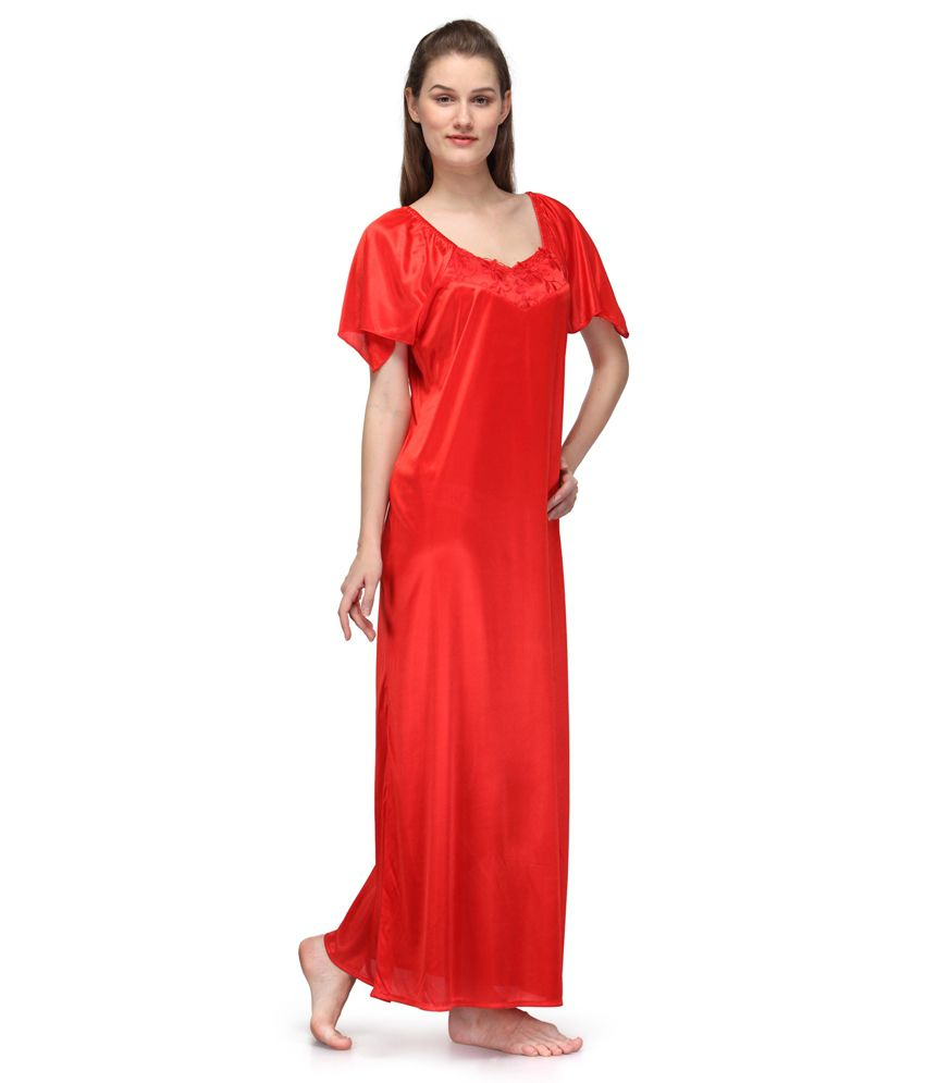 37e6176ab1 Buy Oleva Orange Satin Nighty Online at Best Prices in India - Snapdeal