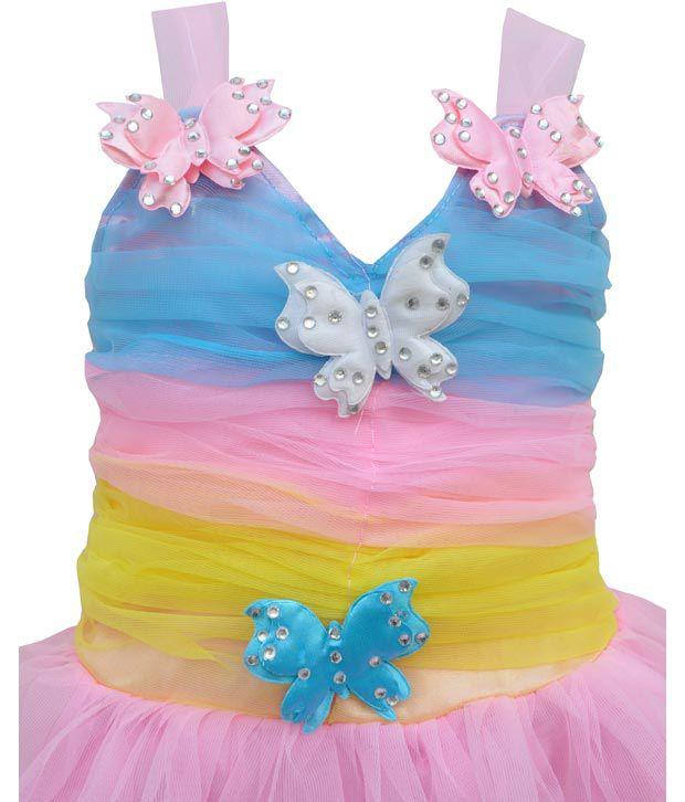 Kids Rock Butterfly Princess Baby Girl Frock Pink Buy Kids Rock