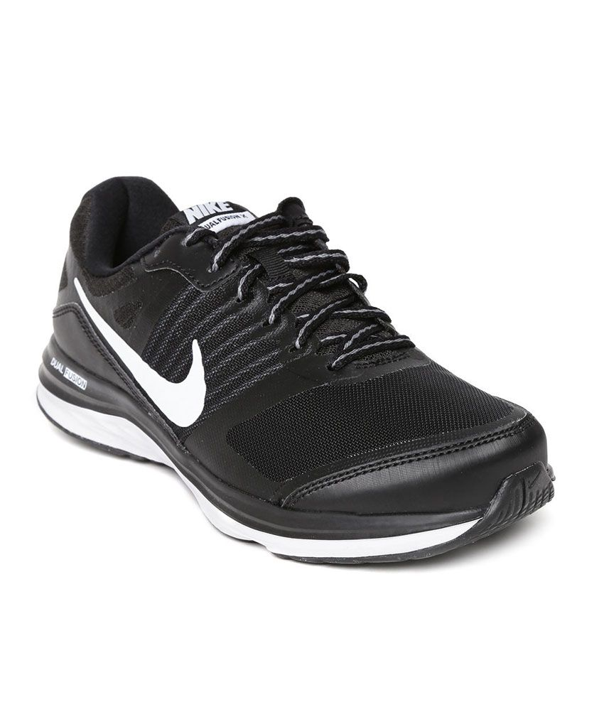 Nike Dual Fusion X MSL Black Running Shoes ...