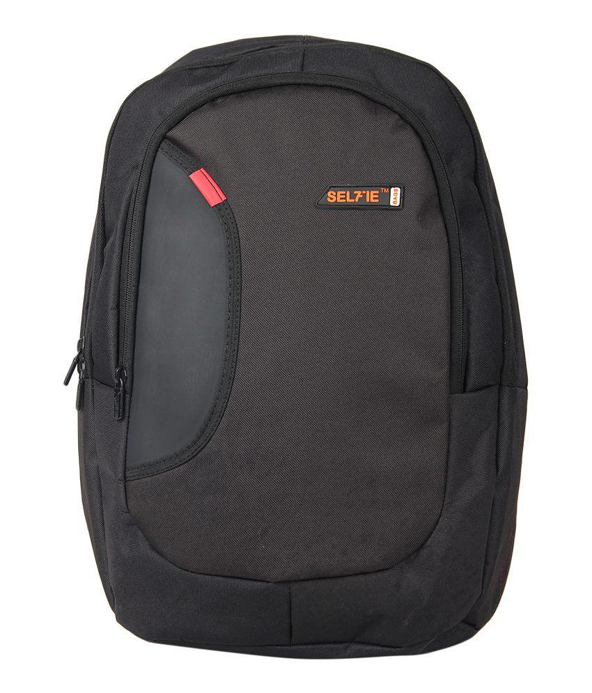 Selfieseven Black Laptop Backpack