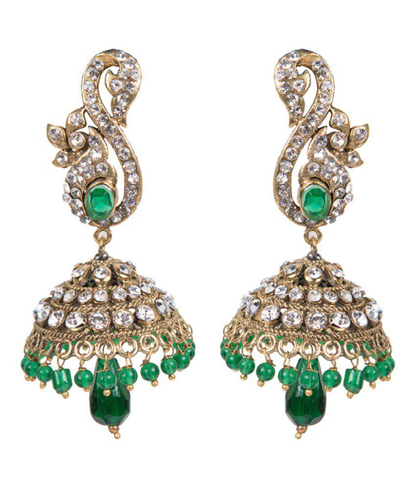 Taj Pearl Antique Yellow Victorian Earrings