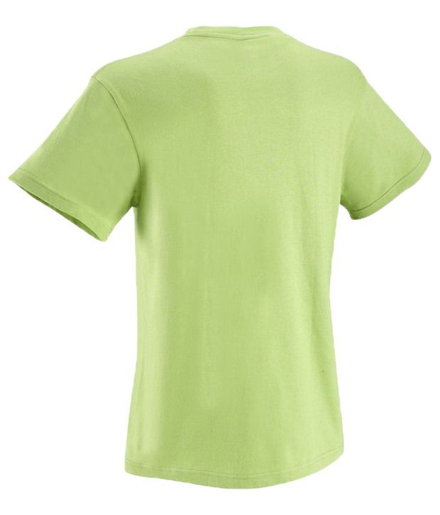 Domyos Green Half Sleeves Fitness T Shirt For Men