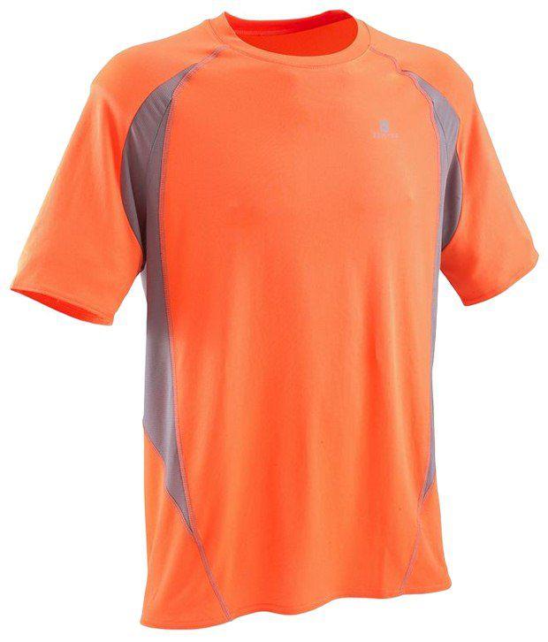 Domyos Orange Fitness T Shirt For Men