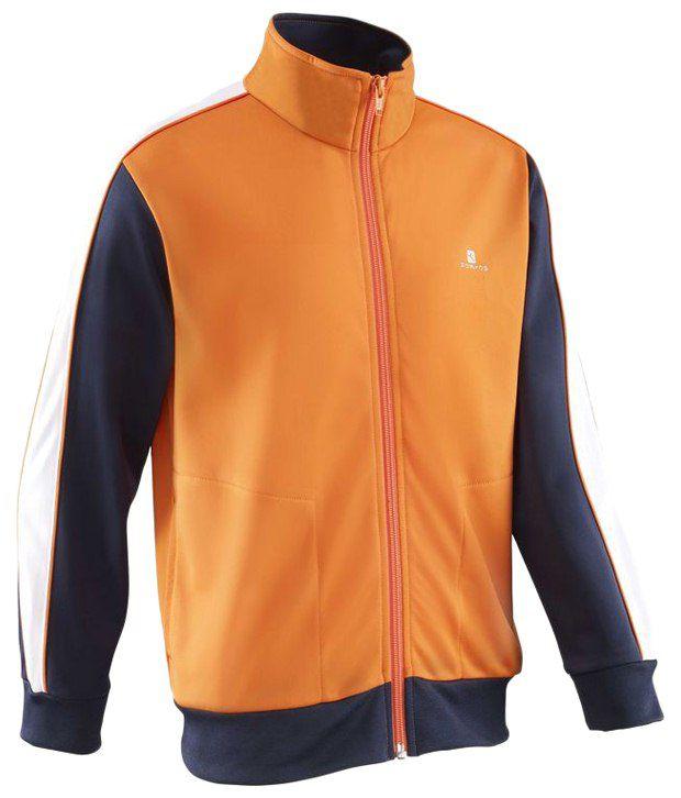 Domyos Orange Full Sleeves Fitness Jacket For Boys