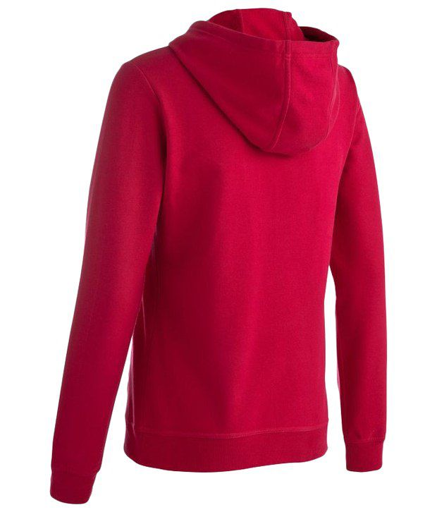 Domyos Pink Hooded Sweater For Women