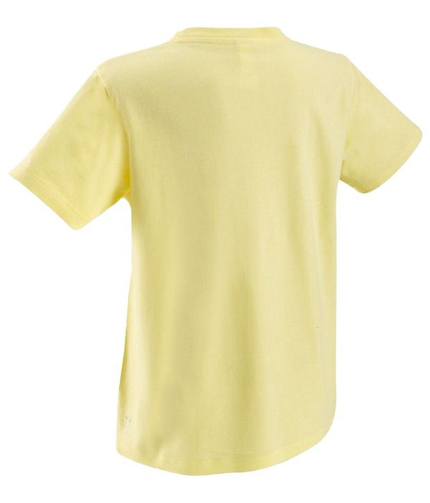 Domyos Yellow Fitness T Shirt For Kids