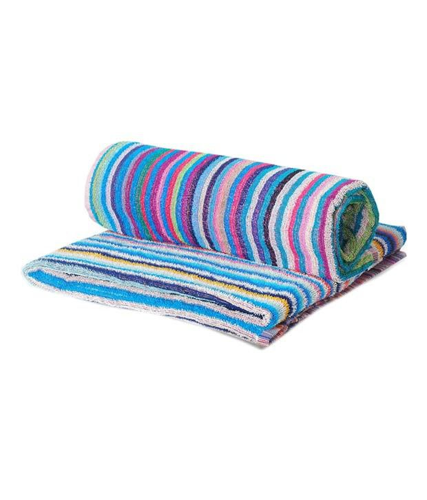 Gurukripa Beautiful Stripes Design 2 Cotton Bath Towel