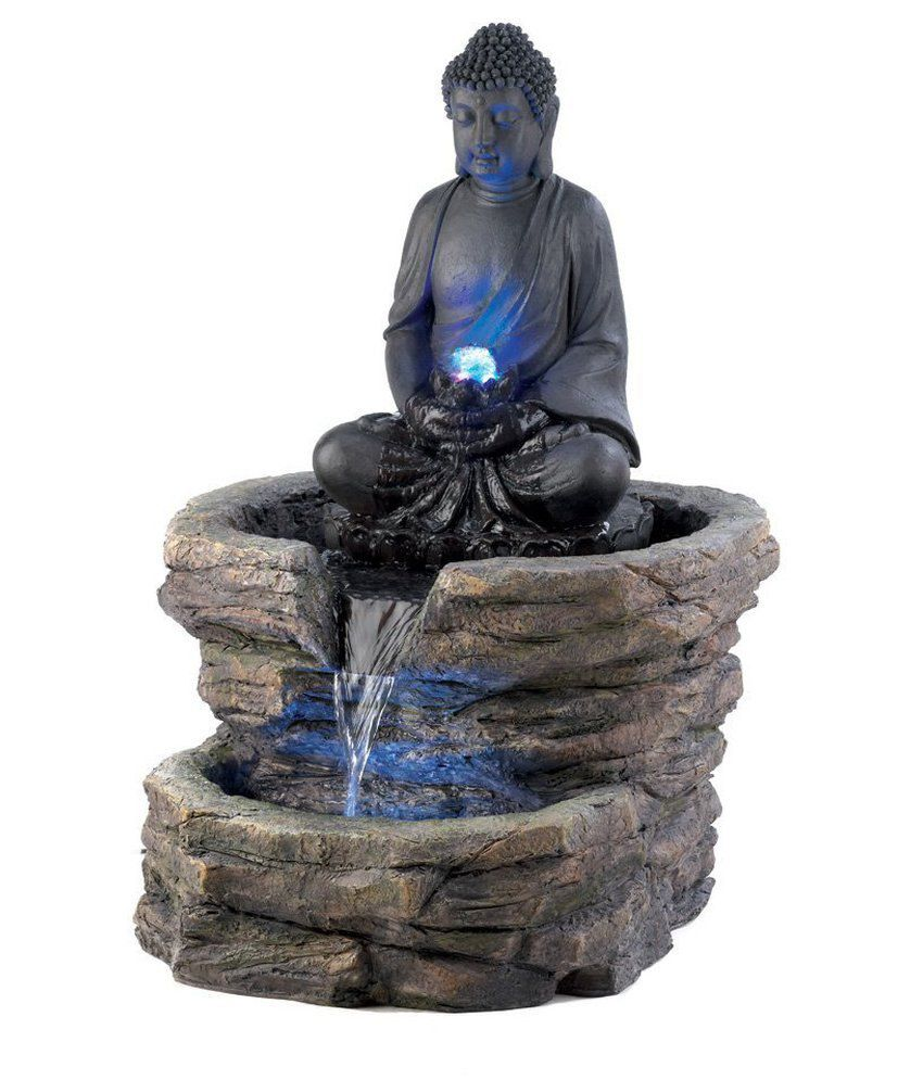 Buy Antique Handcrafted Buddha Lantern For Corporate: Hubna Decor India Fountain With Lighting Buddha: Buy Hubna