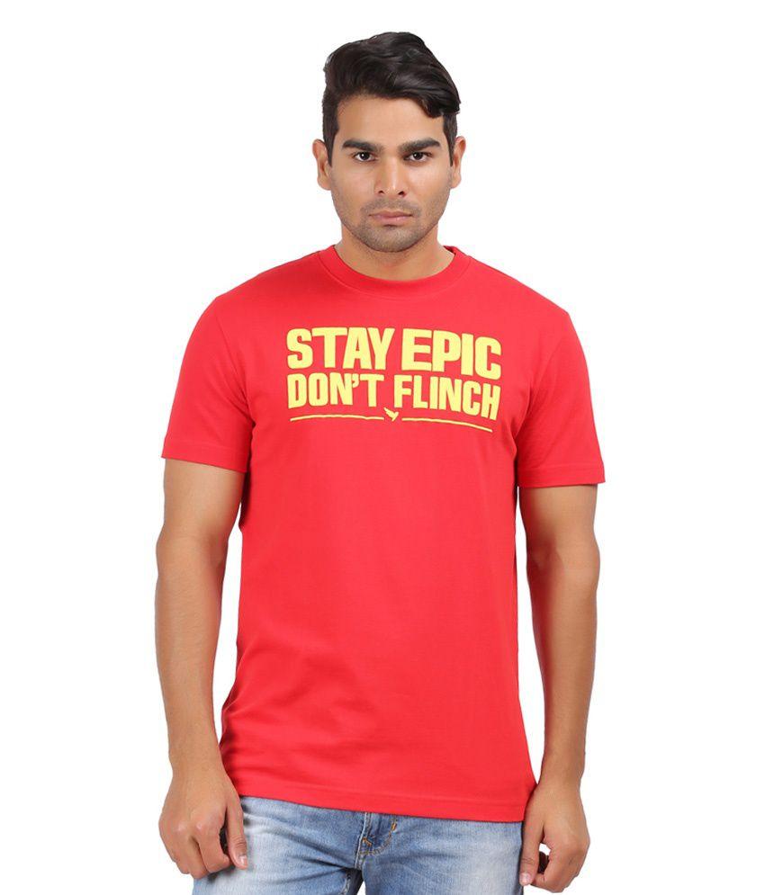 Kite Red Cotton Round Neck T-shirt