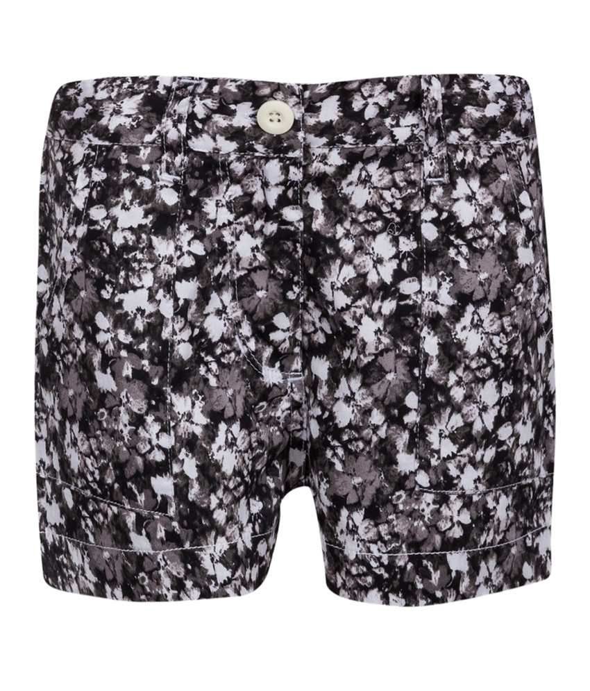 Miss Alibi Black Cotton Shorts