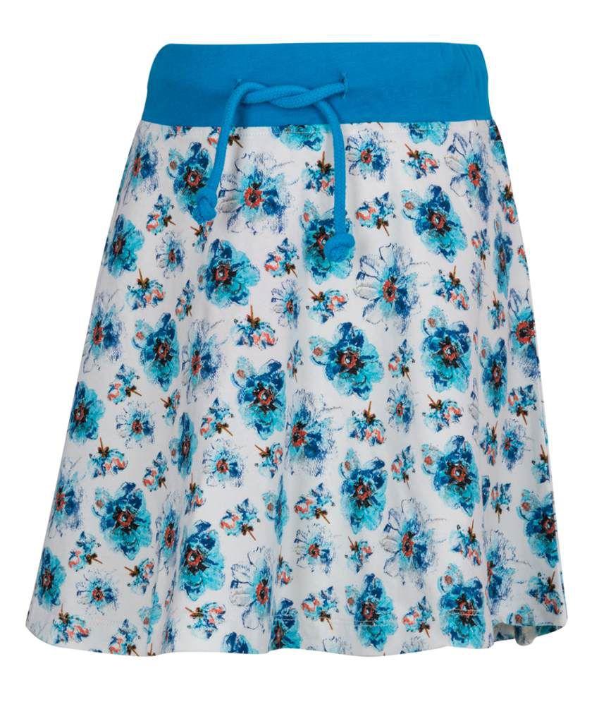 Miss Alibi Blue Cotton Skirt