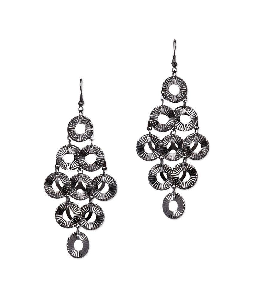 Stol n circular white metal alloy dangler earrings buy