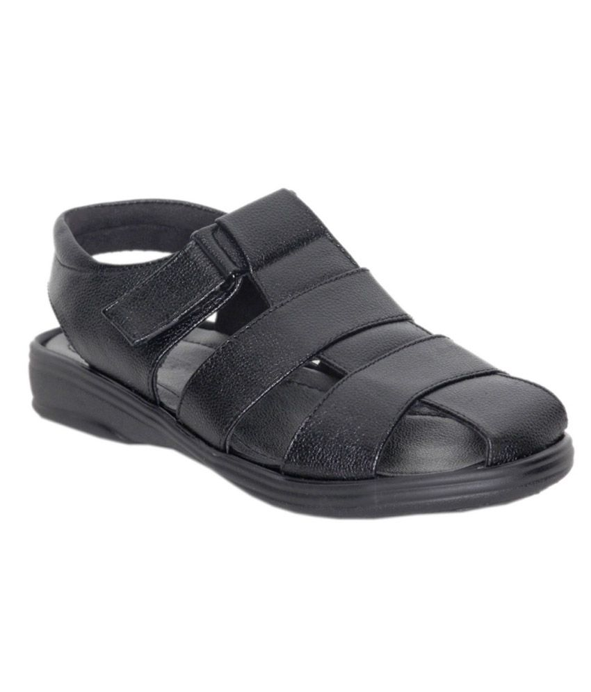 Puma black velcro sandals - Velcro Black Synthetic Leather Sandals For Men Available At Snapdeal For Rs 599