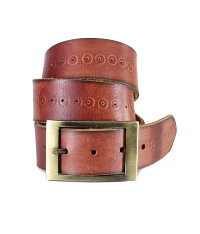 Cintura de Moda Brown Leather Pin Buckle Casual Belt