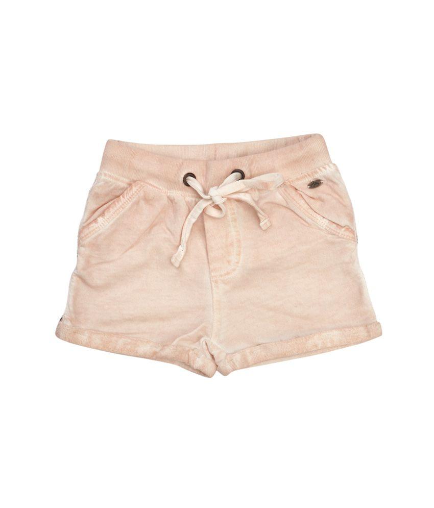 Fiore Elastic Pink Cotton Shorts