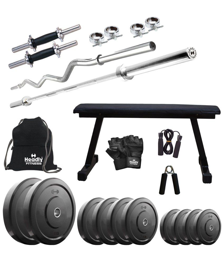 Headly kg home gym set with inch dumbbell rods