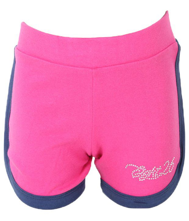 Eight 26 Stylish Pink Cotton Shorts For Girls