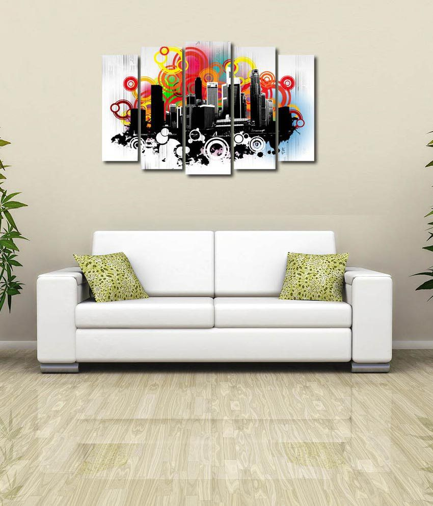 store glossy printed city design like modern wall art painting  - store glossy printed city design like modern wall art painting with frame