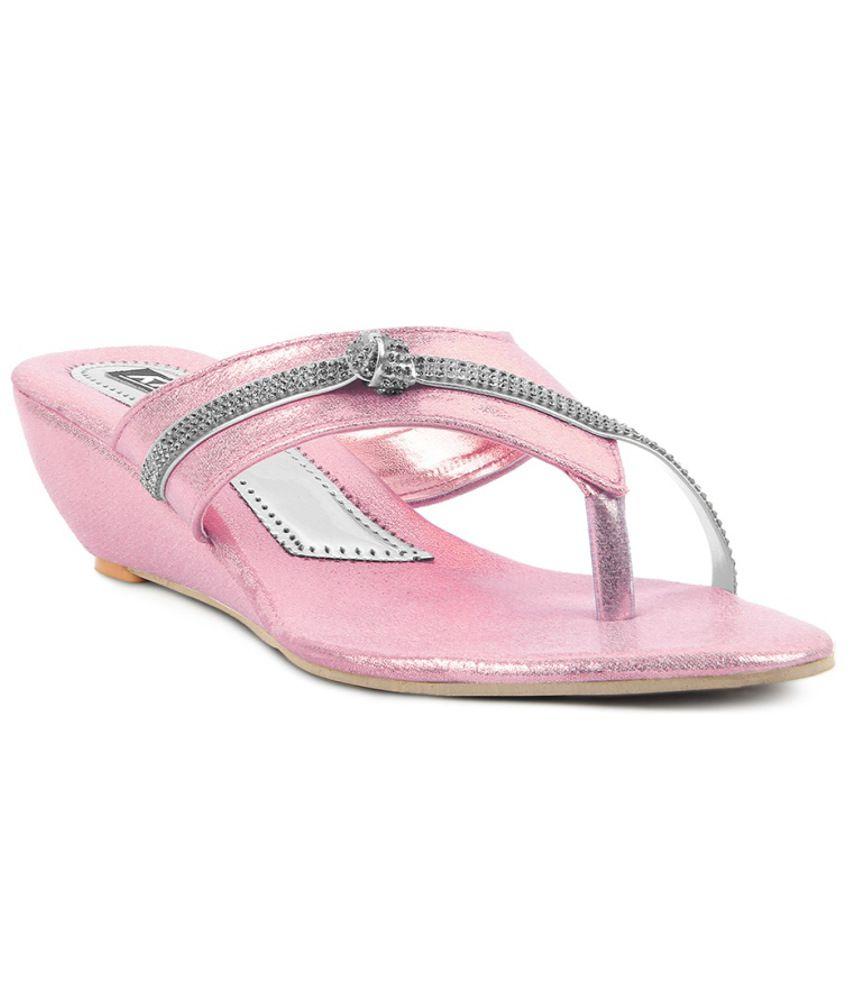 Kielz Sleek Pink Heeled Slip Ons