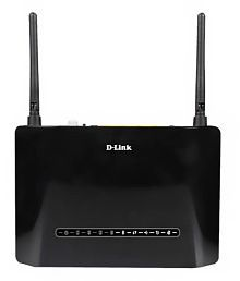 D-Link DSL-2750U Wireless N 300 ADSL2+ 4-Port Wi-Fi Router with Modem-Black