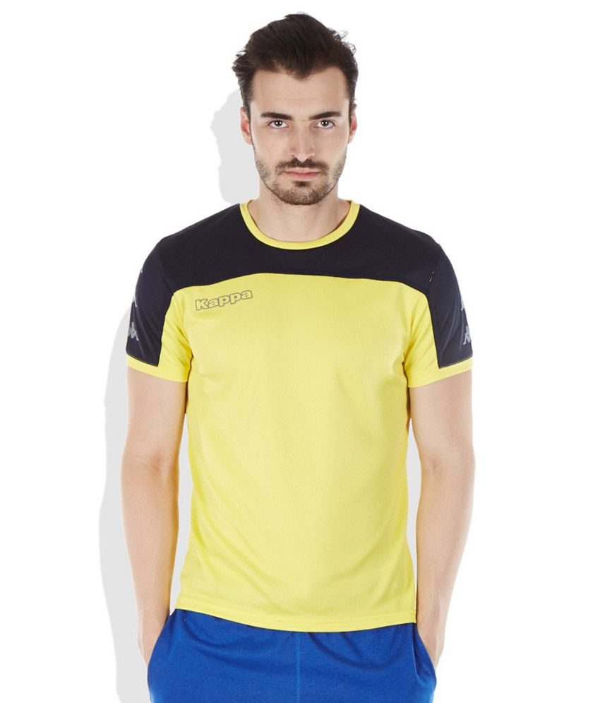 Kappa Yellow Round Neck T-Shirt