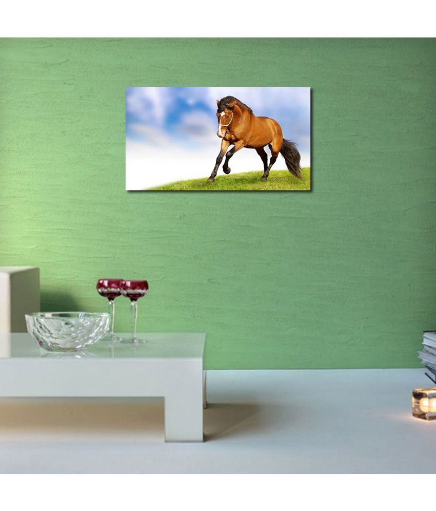 999Store Horse Running In The Field Printed Modern Wall Art Painting - Large Size