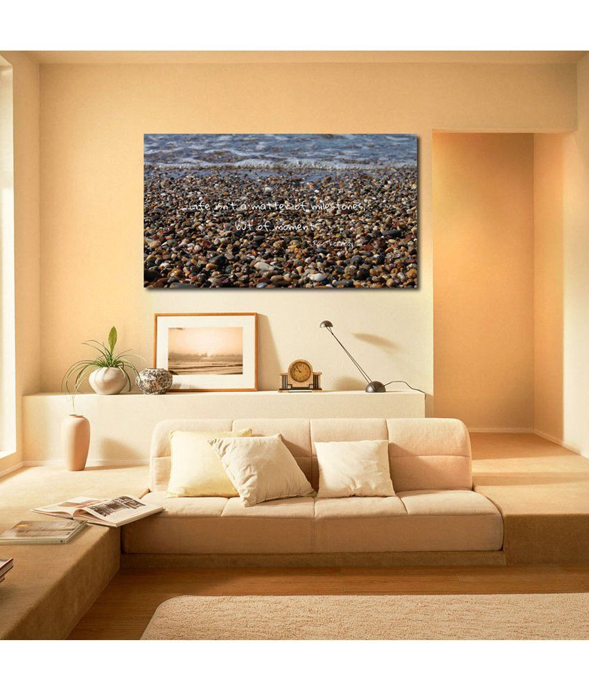 999Store Life Is Beautiful Quote Printed Modern Wall Art Painting - Large Size