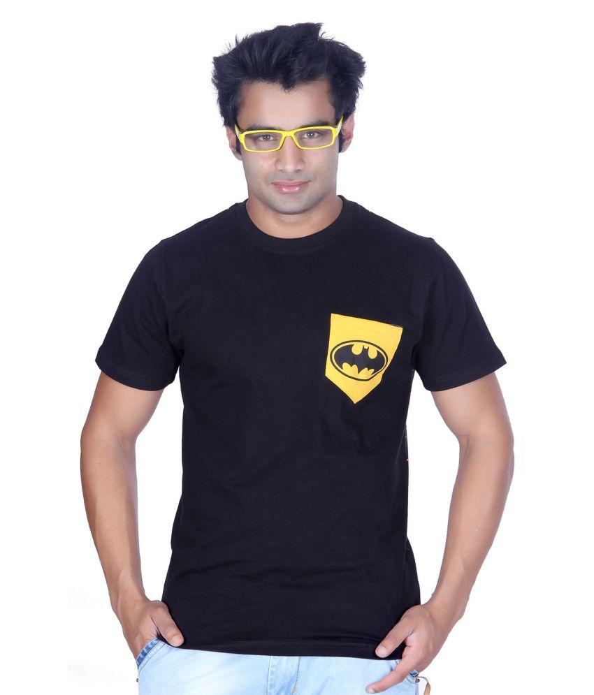 ektarfaa Bat Black Cotton T Shirt