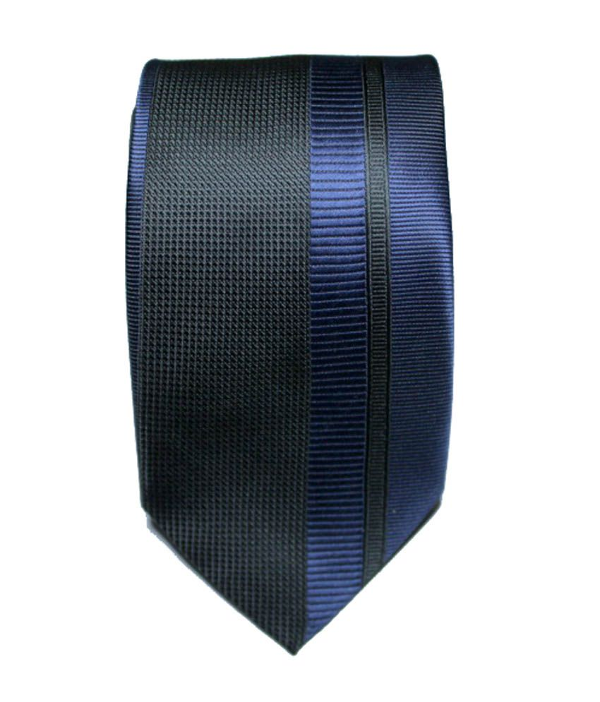 Elite Neckties Black Micro Fiber Formal Narrow Tie