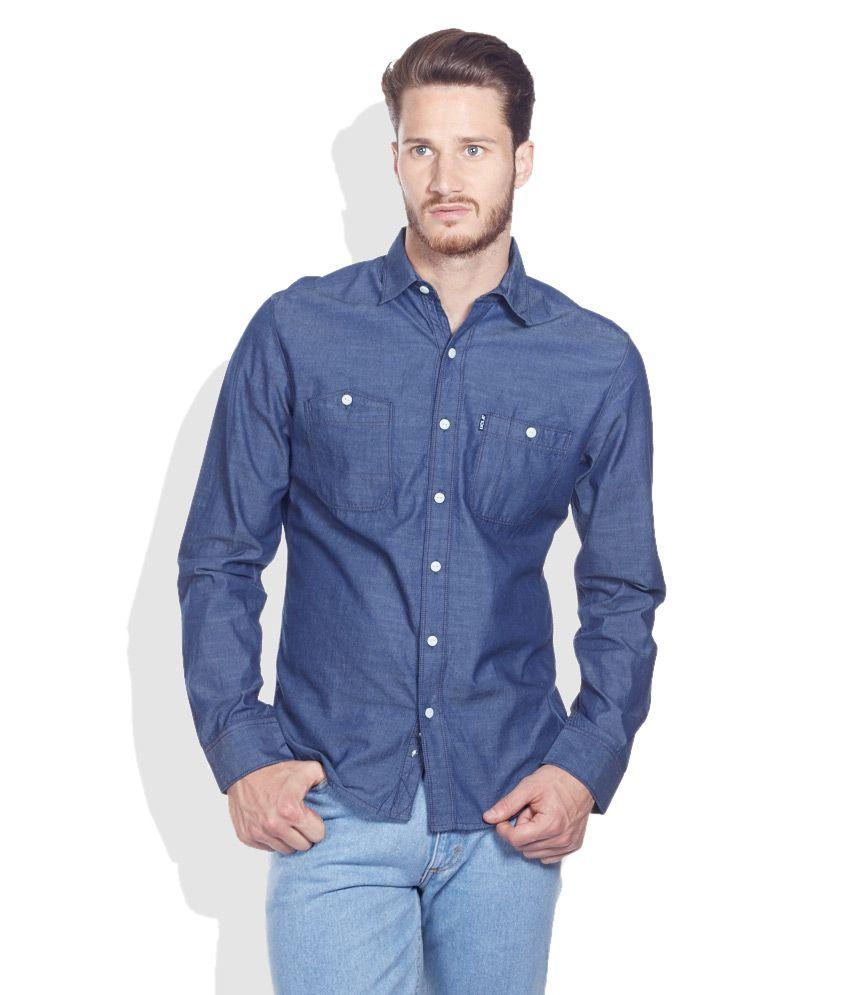 Ucla navy slim fit casual shirt buy ucla navy slim fit for Navy slim fit shirt