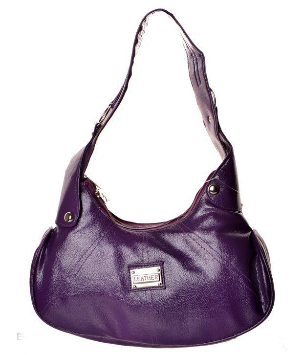Zakasdeals Purple Leather Shoulder Bag