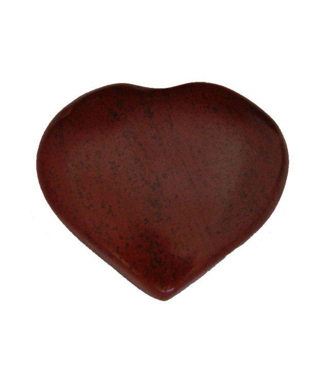 Aaradhi Divya Mantra Red Jasper Heart Showpiece
