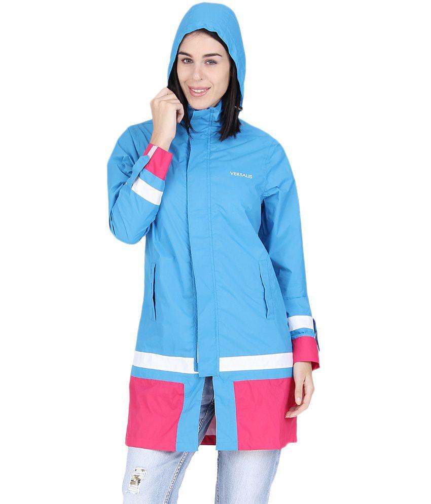 Versalis blue waterproof long Raincoat