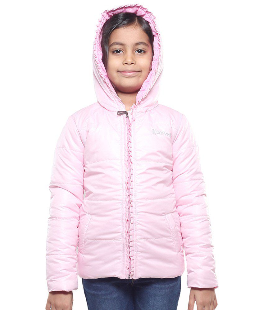 Karrot By Shoppers Stop Light Pink Hooded Jacket For Girls