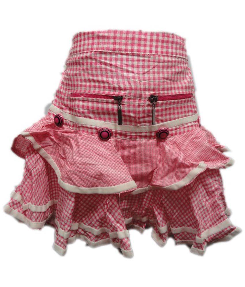 Threads Cotton Pink Skirt
