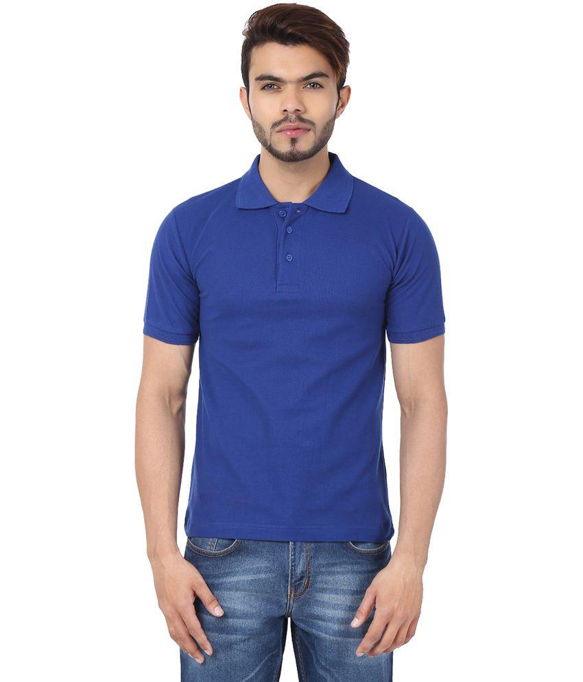 Weardo blue cotton half sleeves polo t shirts buy weardo for Full sleeve polo t shirts
