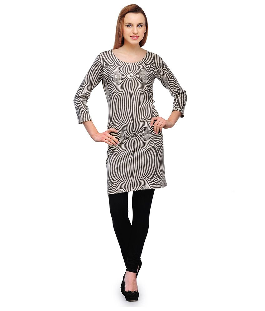 Afreen Black Cotton Printed Kurti
