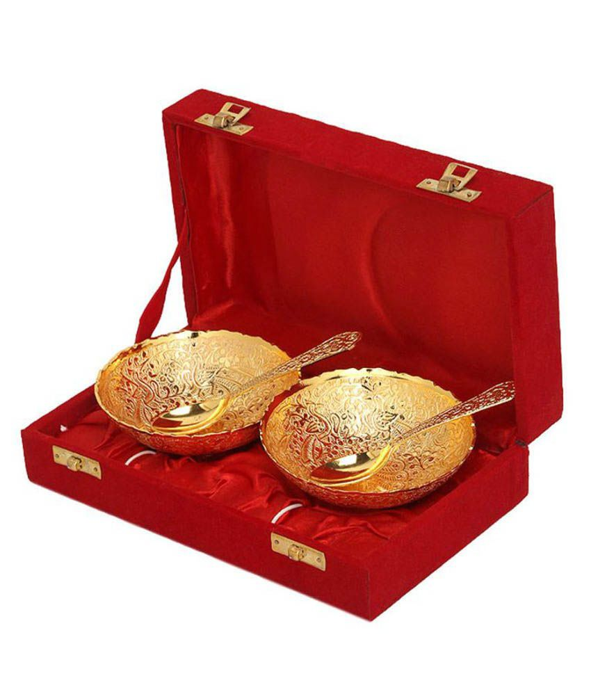 Being Nawab Handcrafted Princely - Set of 2 Royal Gold Bowl