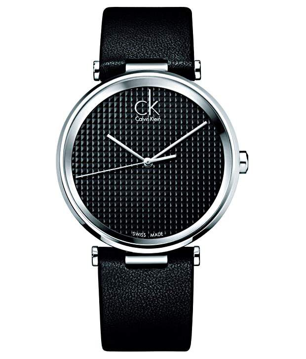 Calvin Klein Calvin Klein Classy Black Strap Wrist Watch For Men